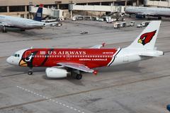 Us airways airbus a319 arizona cardinals Stock Photos