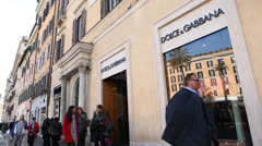 EDITORIAL Dolce & Gabbana store in Rome - stock footage