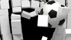 Football transition Stock Footage