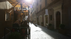 EDITORIAL A street in Rome - stock footage