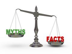 3d facts and myths on scale Stock Illustration