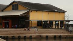 Porto Alegre historical wharf area: pan (poawharf 01) Stock Footage