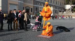Street artists do tricks EDITORIAL Stock Footage