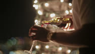 Stock Video Footage of Waiter pours wine into a glass
