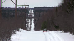 ATV on Tracks in the Snow Stock Footage