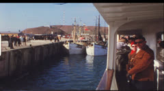 Vintage 8mm film: Trip to Helgoland, North Sea, Germany, 1970s Stock Footage