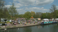 Bank holiday Monday, Newbury (7) UK Stock Footage