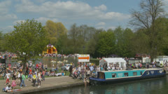 Bank holiday Monday, Newbury (6) UK Stock Footage