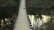 Stock Video Footage of Wooden bridge