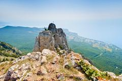 The top of Mount Ai-Petri on the Crimean peninsula Stock Photos