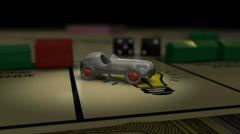 Boardgame car zoom Stock Footage