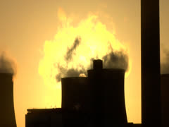 Cooling Towers at Ratcliffe on Soar - stock footage
