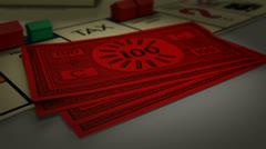 Boardgame Money Zoom EDITED Stock Footage
