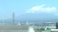 Mount Fuji,train1 Stock Footage