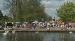 Bank holiday Monday, Newbury (8) UK Stock Footage