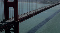 Traffic cars on the Golden Gate Bridge in san francisco 6 Stock Footage