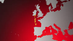 Euro in the red Stock Footage