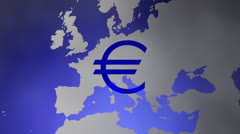 Blue Euro Stock Footage
