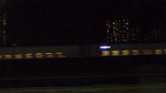 Train window,Shinkansen,Night2 Stock Footage
