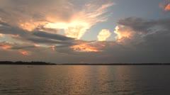 osc1 19 glorious la sunset - stock footage