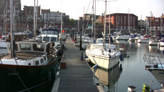 Ramsgate harbor view 03 Stock Footage