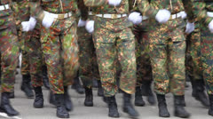 Soldiers marching 3 - stock footage