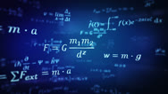Physic formulas. Loopable. 360. Blue-Black. Stock Footage