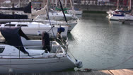 Stock Video Footage of Ramsgate harbor view 04