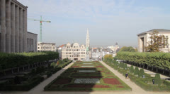 Brussels Mont des Arts Stock Footage