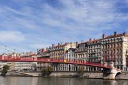 Stock Photo of view of lyon with saone river