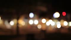 Bokeh/rackfocus - suburban night lifestyles Stock Footage