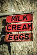 Dairy Sign Stock Photos