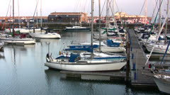 Ramsgate harbor view 05 Stock Footage