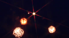 Fireworks, Victory Day, Moscow Stock Footage