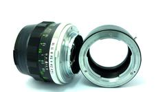 Old len and adaptor Stock Photos