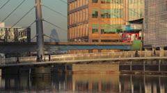 Docklands transport Stock Footage