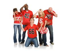 Stock Photo of fans: fans upset at losing game