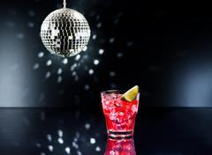 Red campari cocktail Stock Photos