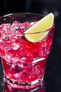 red campari cocktail - stock photo