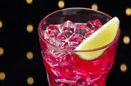 Stock Photo of red campari cocktail