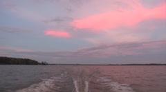 osc2 14 sunset boat stern - stock footage