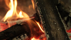 Campfire Close Up 2 Stock Footage