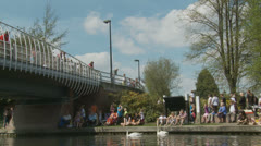 Bank holiday Monday, Newbury (16) UK Stock Footage