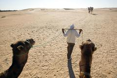 walking berber - stock photo