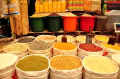 Asian spices and ingredients - stock photo