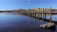Jetty on Coniston Water Stock Footage