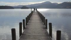 Coniston Jetty. Stock Footage