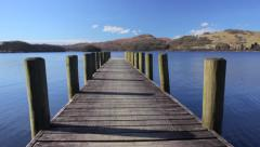 Coniston Jetty.Pan. Stock Footage