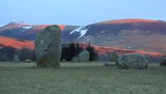 Castlerigg stone circle at Dawn Stock Footage