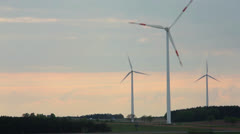 time laps with wind generators and sky and white clouds - stock footage
